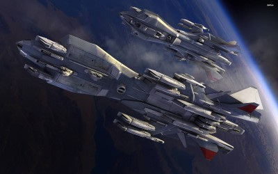 Retaliator Base orbiting the planet in Star Citizen Athah Fine Quality Poster Paper Print