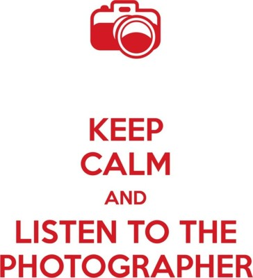 Athah Poster Keep Calm And Listen To The Photographer ; Canvas Art Rolled In Cardboard Tube Paper Print(12 inch X 18 inch, Rolled)