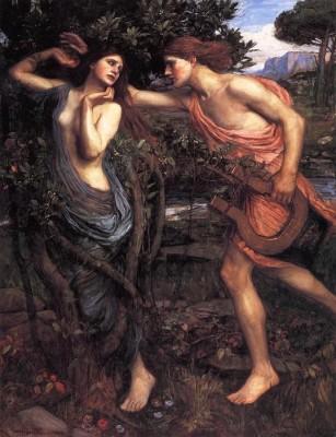 Apollo and Daphne waterhouse (Medium) Paper Print