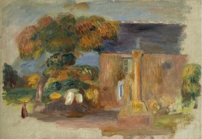 The Museum Outlet Landscape at Bretagne, the House and the Altair, 1902 (Medium) Canvas Painting