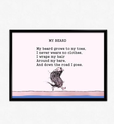 My Beard Poem Paper Print