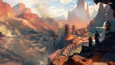 Dragon Age: Inquisition mountains Athah Fine Quality Poster Paper Print