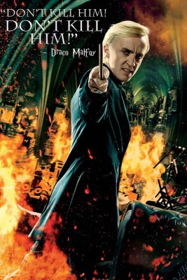 Athah Comic Poster Draco Malfoy Harry Potter Deathly Hallows Quote Paper Print Rolled Paper Print