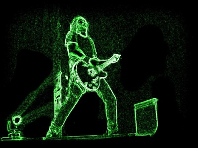 Music Artistic Guitar Player HD Wall Poster Paper Print
