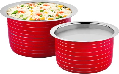 Cookaid Elite Heavy Induction Friendly Patila Set 2 Pcs Pot 1.7 L, 1.2 L