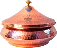 Nirvana Craft Villa Handmade Steel Copper Mughlai Biryani Volume 300 ML With Lid serving Dish Platter Restaurant Ware Hotel Ware Home Handi 0.3 L