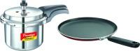 Prestige 3 L Pressure Cooker with Prestige Omega Deluxe Omni Tawa 250 mm Tawa 25 cm diameter