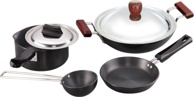 Hawkins Hard Anodised Cookware Set Pan, Tawa Set(Aluminium)