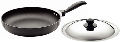 Hawkins Focus Rounded Sides with Lid Pan 26 cm diameter(Aluminium, Non-stick)