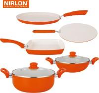 NIRLON Cooking Ceramic Non Stick Induction Cookware Set Tawa, Pan, Kadhai, Pot Set