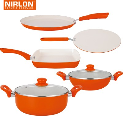 NIRLON Cooking Ceramic Non Stick Induction Tawa, Pan, Kadhai Set(Aluminium, Non-stick) at flipkart