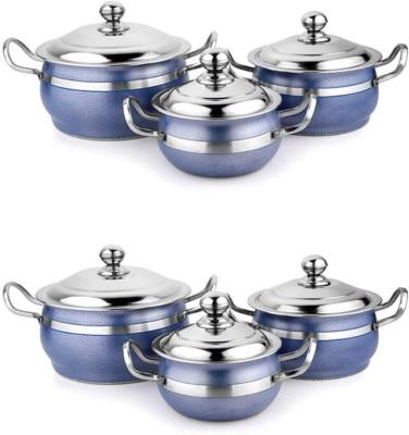 Demkas Blue Antique color handi set of 6 Pot 7 L