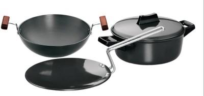 Hawkins Hard Anodised Cookware Set Kadhai 1.5 L