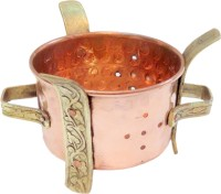 Nirvana Craft Villa Handmade Indian Copper Brass Food Warmer Angeethi Traditional SIGDI Suitable For Copper No.2 Pot 0 L