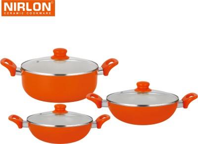 NIRLON Cooking Ceramic Non Stick Induction Kadhai 1.5 L, 1.75 L, 2.25 L(Aluminium, Non-stick) at flipkart
