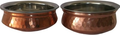 Ssa Copper Bowl Jodi No 1 Handi 1- 0.4 L L, 2 - 0.5L L