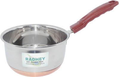 Radhey Copper Base Sauce Pan 15 cm diameter