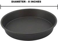 Tirupati Teflon Coated Dish Pizza Pan 20.32 cm diameter(Aluminium, Non-stick)
