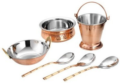 hand-e-Crafts Set of 6 Copper Serving Set Handi 1.4 L