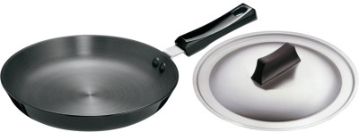 Hawkins Futura Hard Anodized Frying Pan 250 mm with lid Pan 25 cm diameter(Aluminium)