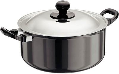 Hawkins Futura Cook-n-Serve with Lid Pot 5 L(Aluminium, Non-stick)