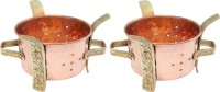 Nirvana Craft Villa Handmade Set of 2 Indian Copper Brass Food Warmer Angeethi Traditional SIGDI Suitable For Copper No.1 Pot 0 L