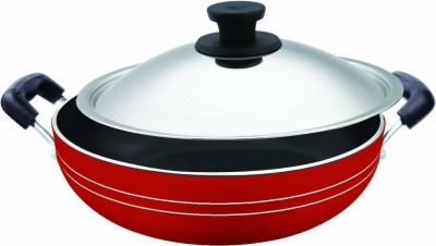 Pigeon Non Stick Kadhai with Lid 300 mm Kadhai 3 L
