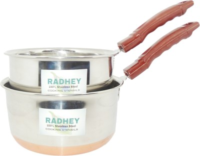 Radhey Copper Base Sauce Pan