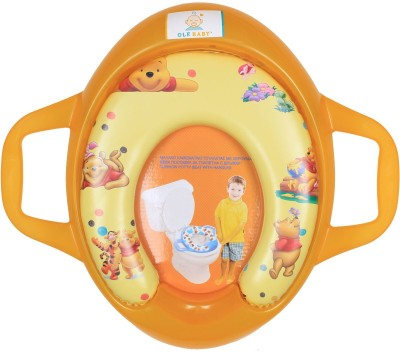 Ole Baby Winnie the pooh With Piglet,Tigger, Padded, Soft, and Durable, Cushion Jumbo Trainer With Handle Potty Seat