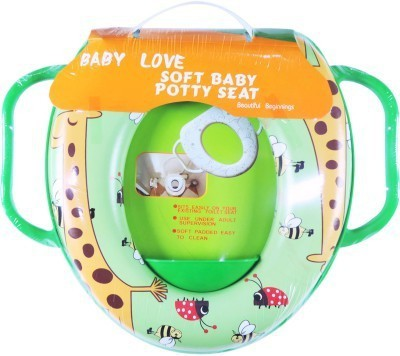 Babyofjoy Soft Baby Giraffe Prints With Side Handle Potty Seat