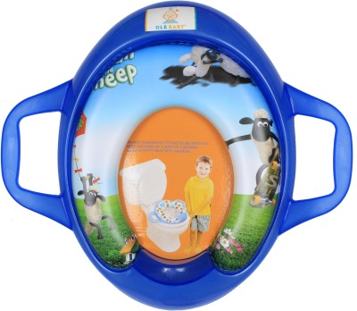 Ole Baby Flying and Skating Shawn the sheep, Padded, Soft, and Durable, Cushion Jumbo Trainer With Handle Potty Seat