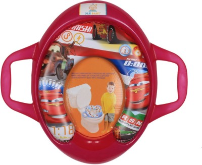Ole Baby Lightning Mc Queen of the Movie Cars, Padded, Soft, and Durable,Full Cushion Jumbo Trainer With Handle Potty Seat