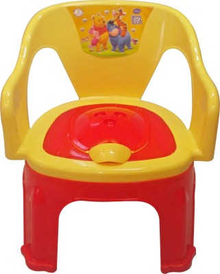 CSM 2 In 1 Yellow & Red Baby Potty Cum Chair Potty Seat