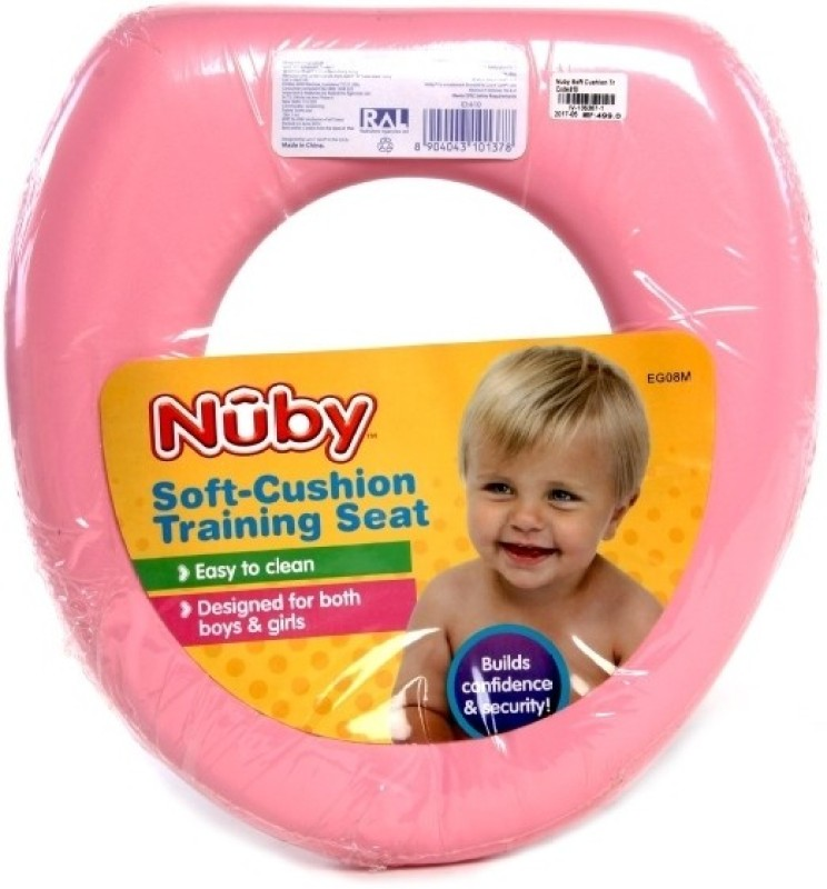 Nuby Soft Training Cushion Seat Potty Seat(Pink)
