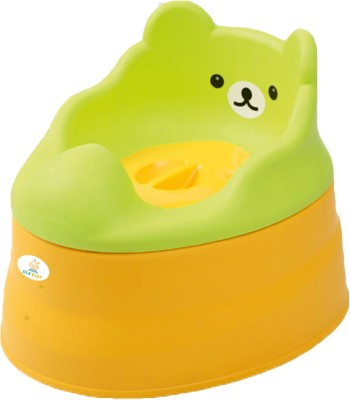 Ole Baby Anti Skid 3 in 1 Cute Smiling Bear Face Premium Quality Multi functional Chair BPA FREE 0 - 4 years Potty Box(Green, Yellow)