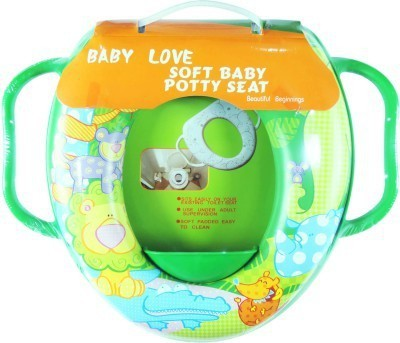 Babyofjoy Soft Baby Zoo Animals Prints With Side Handle Potty Seat