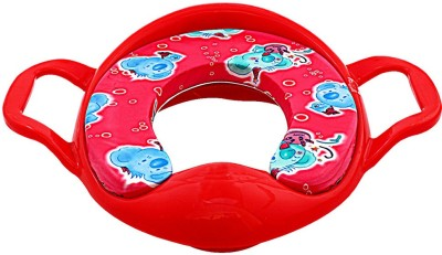 DealBindaas Cushioned Potty Seat With Handle Red Potty Seat