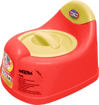Nayasa Gold Dust Baby Traning Lid Potty Seat(Red)