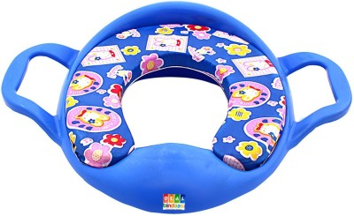 DealBindaas Cushioned Potty Seat With Handle Blue Potty Seat