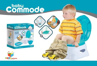 Toys Bhoomi 3-in-1 Easy to learn 1-2-3 Teach Me Potty Baby Commode Toilet Trainer kit - Splash free Potty Box