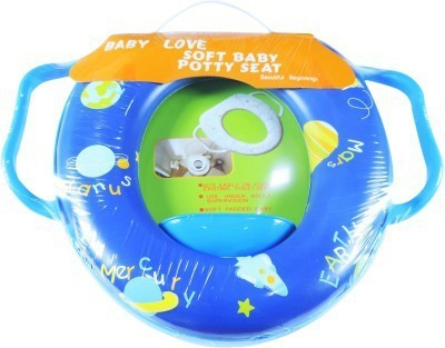 Babyofjoy Soft Baby Universe Earth Prints With Side Handle Potty Seat