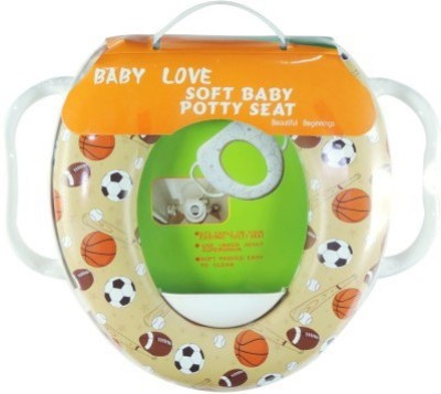 Babyofjoy Soft Baby Sports Prints With Side Handle Potty Seat
