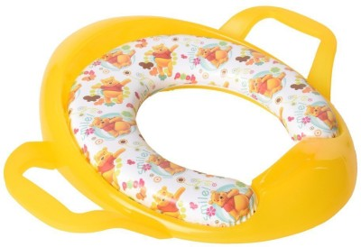 Baby Bucket Pooh Print Soft Padded Training Toilet Seat With Handles Potty Seat