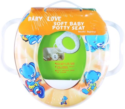 Ole Baby Soft Baby Teddy Trycicle Prints With Side Handle Potty Seat