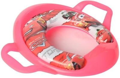 Baby Bucket Soft Padded Training Toilet With Handles Car's Print Potty Seat(Pink)