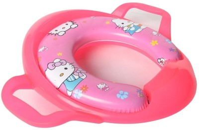 Baby Bucket Soft Padded Hello Kitty Print Training Toilet Seat With Handles Potty Seat(Pink)