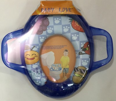 Mommas Baby Comfort Deluxe With Handle Cushion Soft Trainer (seat print may vary) Potty Seat