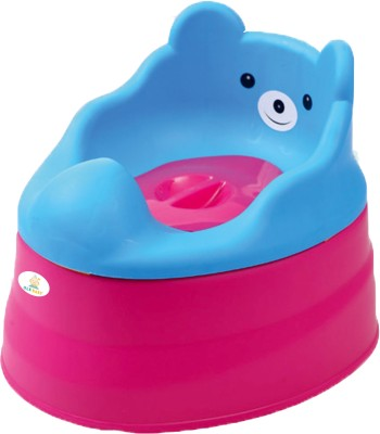 Ole Baby Anti Skid 3 in 1 Cute Smiling Bear Face Premium Quality Multi functional Chair BPA FREE 0 - 4 years Potty Box(Blue, Pink)