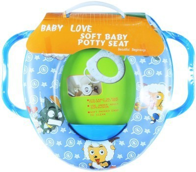 Babyofjoy Soft Baby Sheep and Wolf Prints With Side Handle Potty Seat