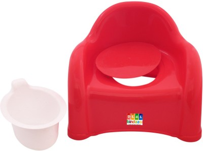DealBindaas Presents 2 In 1 Baby Potty Cum Chair Red Potty Box